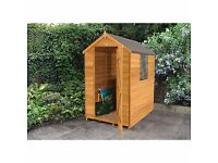 6x4 overlap pressure treated shed brand new cheap!