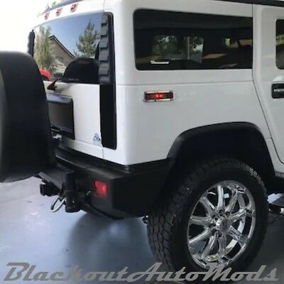 Hummer H2 Blackout Tail Light Covers 2003 thru 2009 Models Free Shipping for sale  Shipping to Canada
