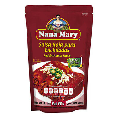 Salsa Roja~Red Sauce para Enchiladas by Nana Mary~Get 2-400g~Authentic Taste (Authentic Red Enchilada Sauce)
