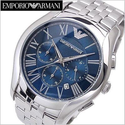 BRAND NEW EMPORIO ARMANI BLUE DIAL CHRONO MEN WATCH AR1787