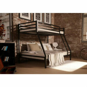 Twin over full bunk bed ebay for Cheap metal bunk beds