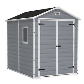 Keter Plastic Shed, 8x6 , Grey Colour (includes floor) Brand New in Box.
