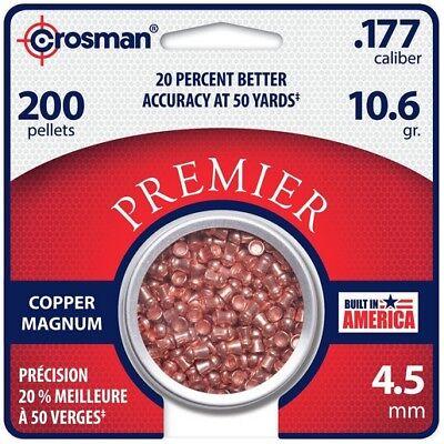 Crosman CPD77 Copper Magnum Premier Domed Pellets .177 Cal 10 Gr (200 Pack)