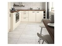 Wickes City Stone Grey Ceramic Wall & Floor Tile - 600 X 300mm