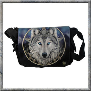 THE WILD ONE WOLF LISA PARKER GOTHIC MESSENGER LADIES NEW NEMESIS NOW BAG