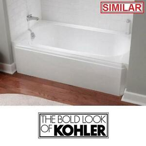 "NEW* KOHLER 5' CAST IRON BATHTUB RH - 111952246 - MEMOIRS WHITE 60"" x 32"" BATH BATHROOM TUB TUBS BATHTUBS ALCOVE FIXT..."