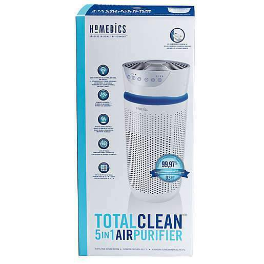 Homedics Total Clean Deluxe 5 in 1 UV Air Purifier - Open Box
