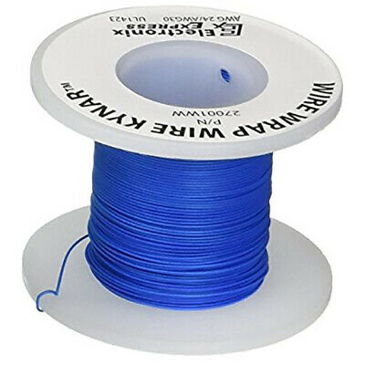 Wire Wrap Solid Kynar Wire 30 Gauge Blue 100 Feet