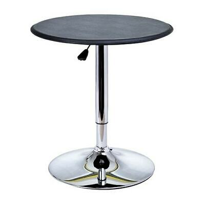 HomCom Modern Pub Style Adjustable Vinyl Covered Bar Table Black Modern & Contem