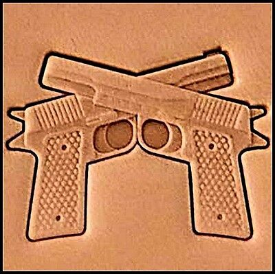 3D GUNS PISTOLS STAMP 8690-00 Tandy Leather Stamping Tool Stamps Craftool Tools