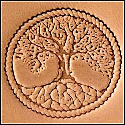 3D TREE OF LIFE STAMP 8686-00 Tandy Leather Stamping Tool Stamps Craftool Tools