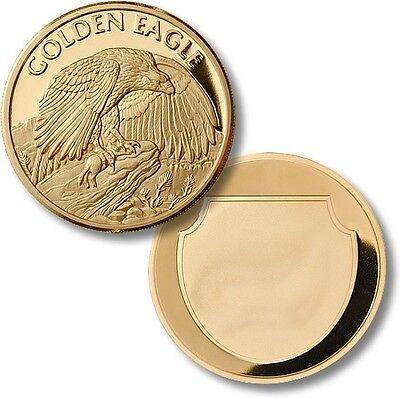 Golden Eagle Challenge Coin Wildlife Gold Token Aquila chrysaetos Bird US Raptor