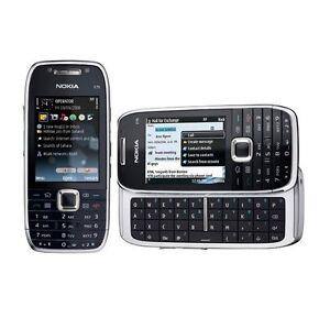 Brand New Nokia E75 Silver Black Unlocked Smartphone 3G QWERTY keyboard wifi GPS