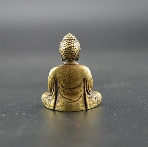 China's pure brass sakyamuni Buddha small statue