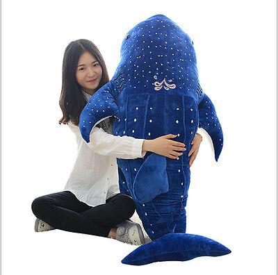 100CM Big Cute Plush Toy Whale Shark Stuffed Animal Soft Plushies Doll Pillow