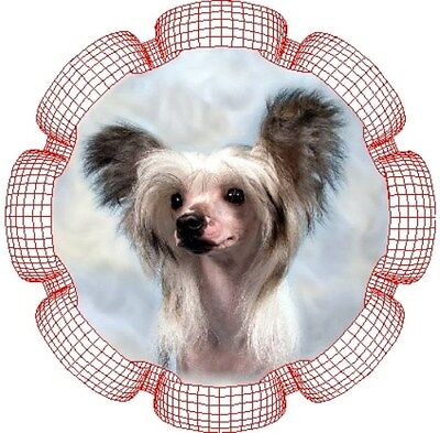 2 Chinese Crested - Rosette - Car Stickers By Starprint