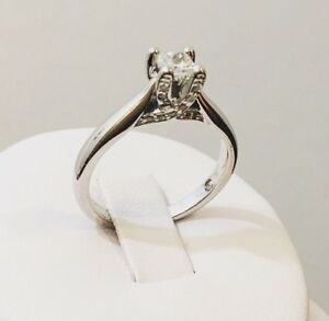 18K Gold Radiant Cut Diamond Engagement Ring*Certified - $4,200