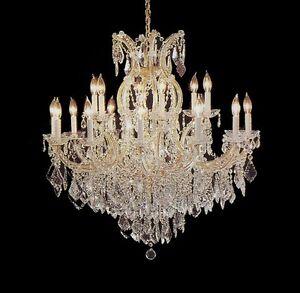 16-LIGHT-MARIA-THERESA-CHANDELIER-SWAROVSKI-amp-ASFOUR-CRYSTAL-FOYER-DINING-ROOM
