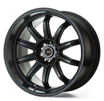 5ZIGEN Fireball RR 9.0J-17 +15 5x114.3 Matt Black set of 4 wheels from JAPAN