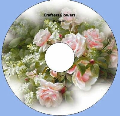 Crafters Flowers 105 Images Art & Craft card Making CD