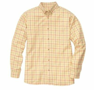 SOUTHERN PROPER Tattersal Dress Shirt NWT Med. (Orig.$70) Yellow/Red/Blue