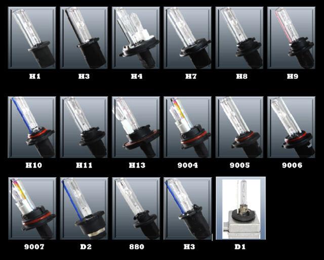 2pcs Xenon Hid Replacement Bulbs 35w Ac 3000k 4300k 6000k