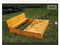 Sand box (new) with lid and foldable seats