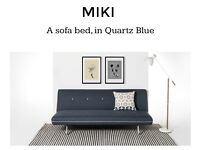 NEW - Made -Blue And Grey Miki Sofa Bed