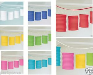 LUAU-SUMMER-PARTY-LANTERNS-GARLAND-CEILING-HANGING-BANNER-DECORATIONS-PINK-MULTI