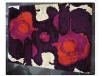 Large 1960s 100% Wool Psychedic RYA Rug Danish Hojer Wilton Vintage Retro