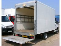 24/7 Available MAN AND LUTON VAN REMOVAL COURRIER SERVICE MOVING TRUCK HIRE WITH A TAIL LIFT & MOVER