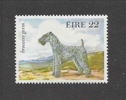 Dog Art Body Study Portrait Postage Stamp KERRY BLUE TERRIER Ireland 1983 MNH