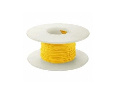 28 Awg Kynar Wire Wrap Ul1422 Solid Wiremod Type 100 Foot Spools Yellow New