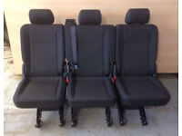 New vw t6 t5 kombi quick release seats x 3 singles ISOFIX