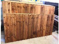🌻Pressure Treated Brown Vertical Board Wooden Garden Fence Panels