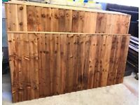 🌈 High Quality Heavy Duty Tanalised Brown Straight Top Wooden Garden Fence Panels