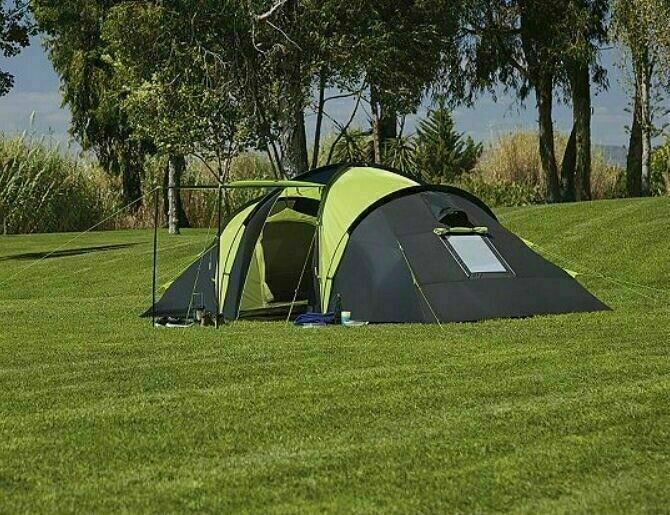 71f3637b84b New double skinned Tesco 4 Man 2 bedroom Tent standing height | in ...