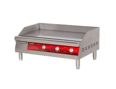 Commercial Duty Kitchen 30 Electric Countertop Flat-top Griddle Grill 4500w