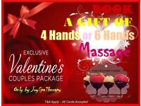 ❤ VALENTINE 4 HANDS PASSION Full body Massage with Sauna Jacuzzi, Alone/Couple 6/8 hands Newcastle ❤