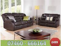 Elegant 3 and 2 seater reclining sofa 123 -6899534
