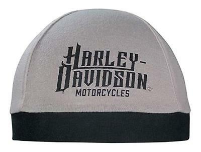 Gray Skull Cap (Harley-Davidson Men's Harley Life Script Skull Cap, Gray & Black SK22012 )