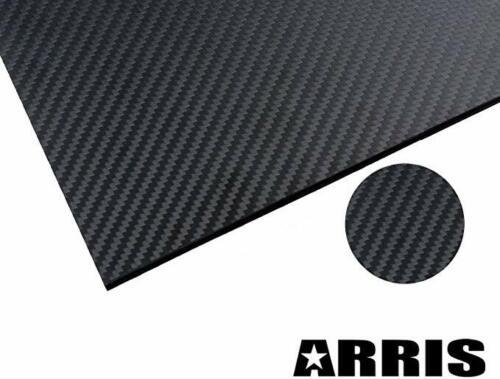 400X500X2MM 3K 2MM Carbon Fiber Plate Plain Weave Panel Sheet Glossy Surface X 3