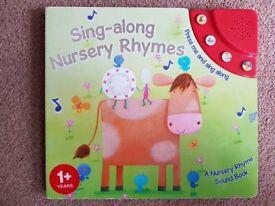 Sing-along Nursery Rhymes - Musical Book - £3