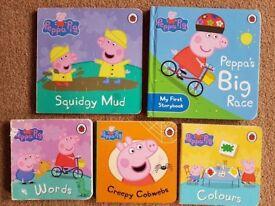 5 x Peppa Pig Books - £7