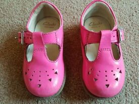 Clarks First Shoes size 4F - £4
