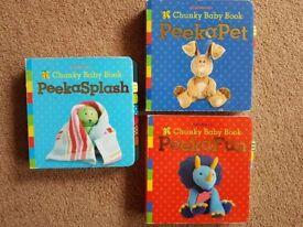 3 x Chunky Book 'Peeka' Books - £6