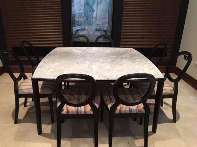 B Italia 8 Seat Marble Dining Table Chairs In Weybridge Surrey Gumtree