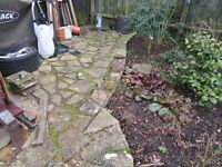 CRAZY PAVING WELL AGED AND WEATHERED BUILDERS LIKELY TO BE STARTING IN A WEEK !!