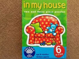 Six Puzzles in one box (2 & 3 piece puzzles, age 18mth+) - £3
