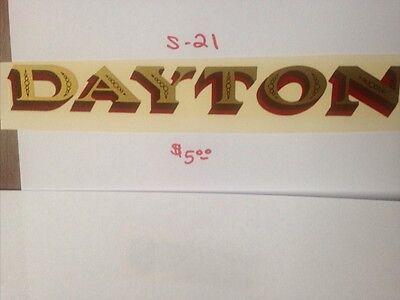 "DAYTON ANTIQUE SCALE & COIN MACHINE DECAL  #S-21 LARGE  8 1/2"" DAYTON"